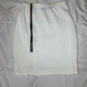 White Mini with Zipper